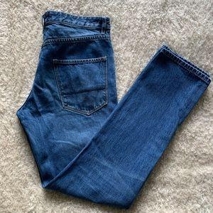 Topman Men Size 34R Vintage Slim Button Fly Blue